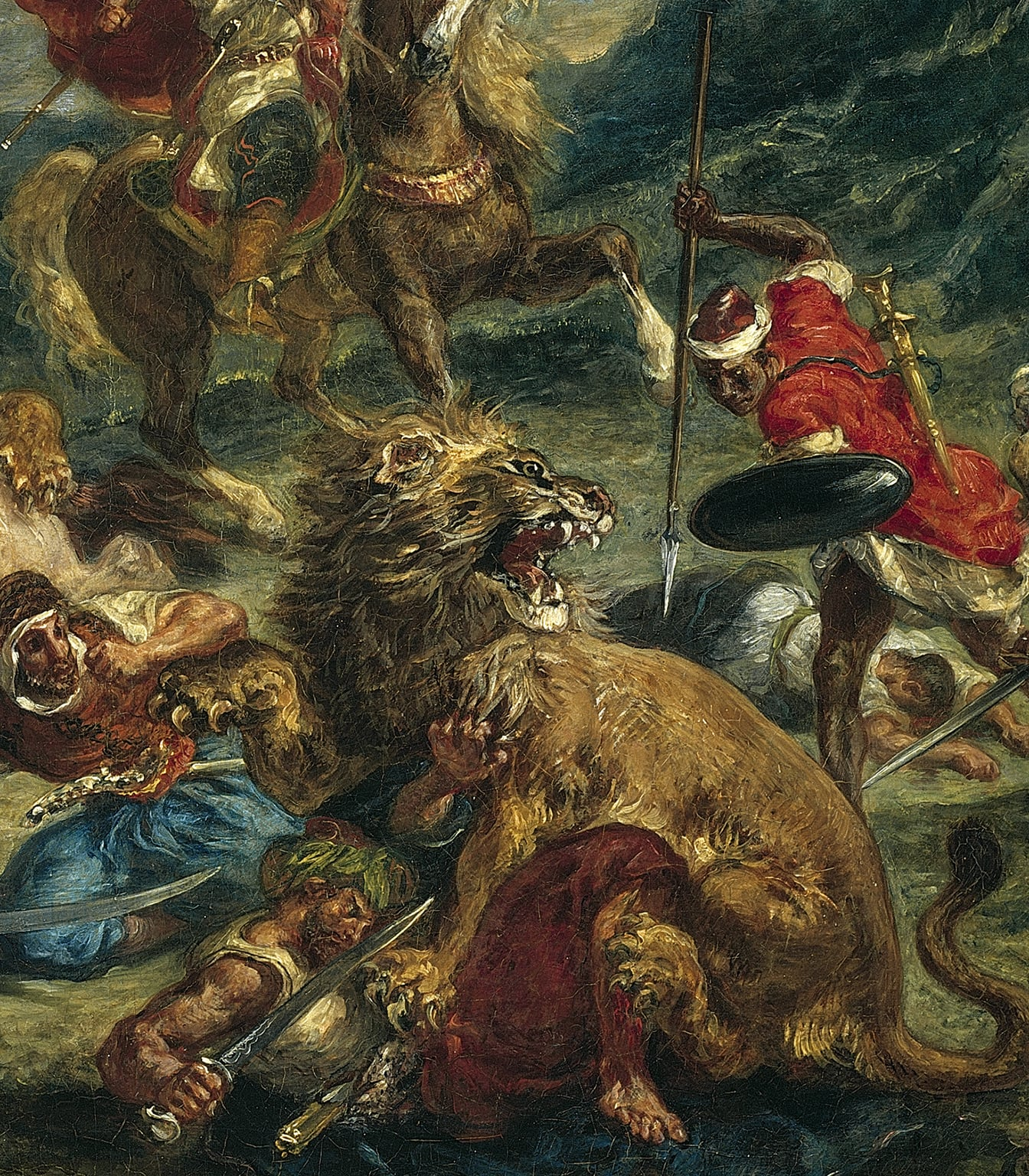 Delacroix and the Rise of Modern Art, National Gallery, 17 February – 22 May - Eugène Delacroix, Lion Hunt (detail), 1861 © The Art Institute of Chicago, Illinois