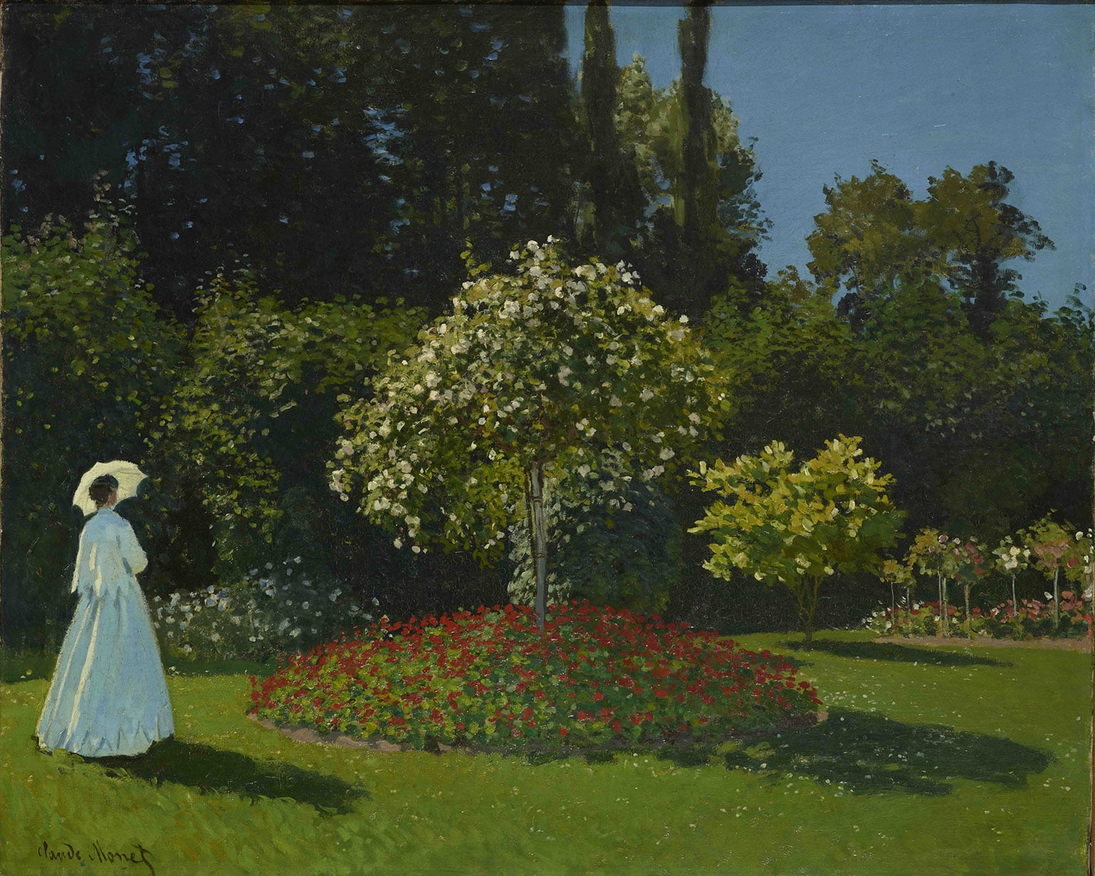 5. Painting the Modern Garden: Monet to Matisse, Royal Academy, Reduced price with a National Art Pass - Claude Monet, Lady in the Garden, 1867. Photo © The State Hermitage Museum. Photography: Vladimir Terebenin