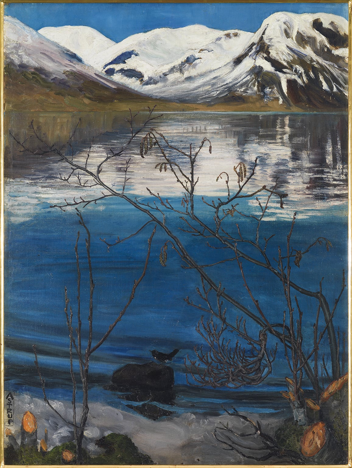 Nikolai Astrup, March Atmosphere at Jølstravatnet, before 1908 - Private collection, Oslo. Photo © Anders Bergersen
