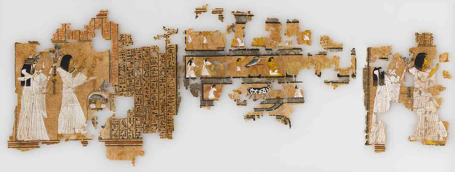 4. Death on the Nile: Uncovering the Afterlife of Ancient Egypt, Fitzwilliam Museum, free to all - Book of the Dead of Ramose, supervisor of the royal archives from Sedment, Egypt. New Kingdom, 19th Dynasty. Reign of Seti I. © Fitzwilliam Museum Cambridge