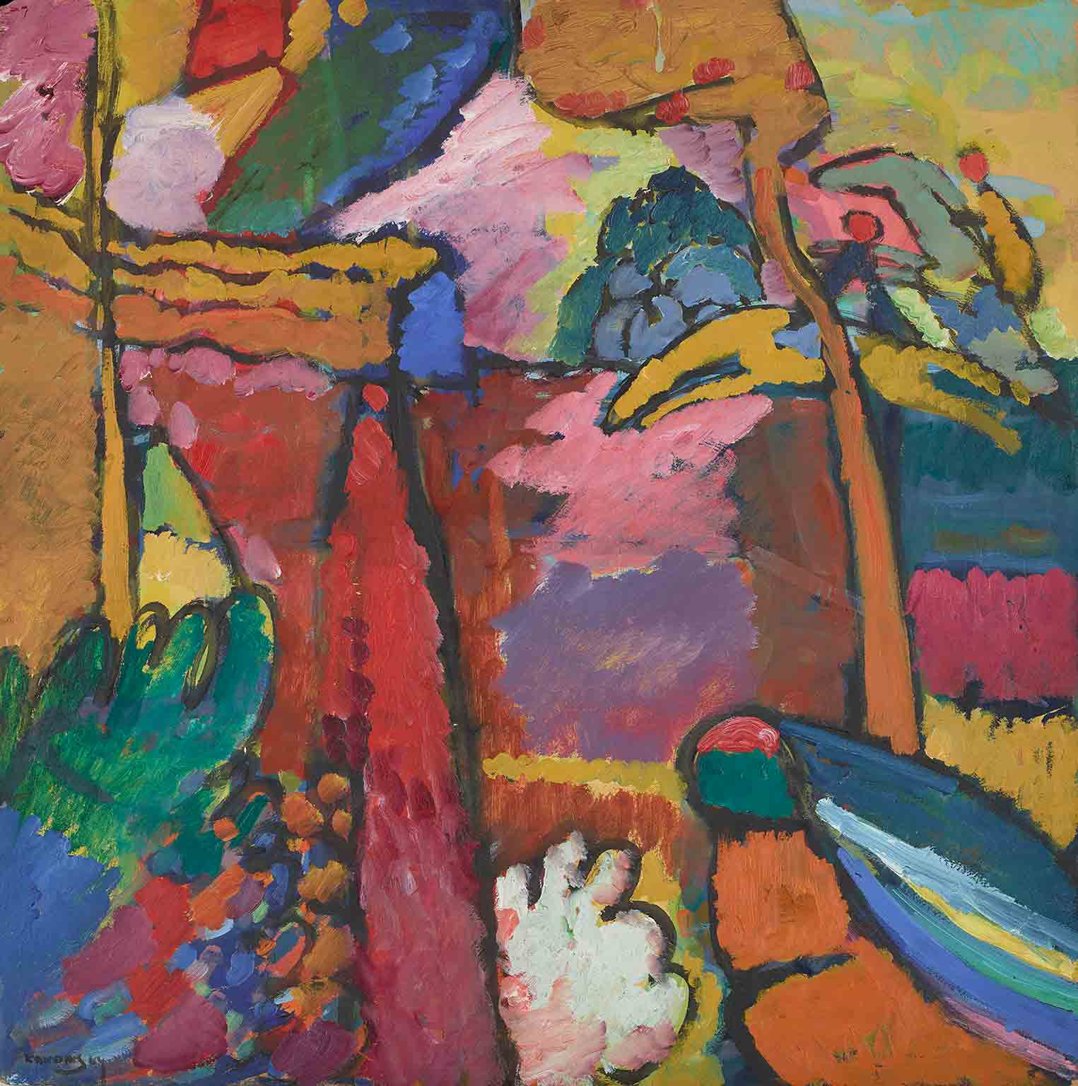 3. Delacroix and the Rise of Modern Art, National Gallery, 50% off with a National Art Pass - Vassily Kandinsky, Study for Improvisation V, 1910. The Minneapolis Institute of Art