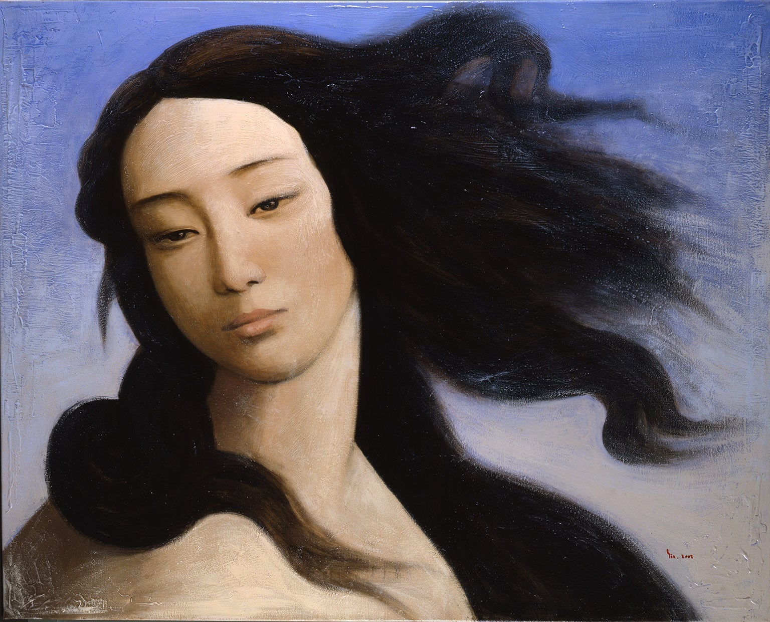 1. Botticelli Reimagined, V and A, 50% off with a National Art Pass - Yin Xin, Venus, after Botticelli, 2008 Private collection courtesy Duhamel Fine Art Paris