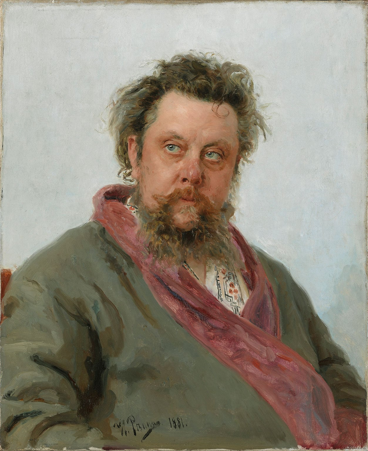 2. Russia and the Arts: The Age of Tolstoy and Tchaikovsky, National Portrait Gallery, 50% off with National Art Pass - Ilia Repin, Modest Mussorgsky, 1881. © State Tretyakov Gallery