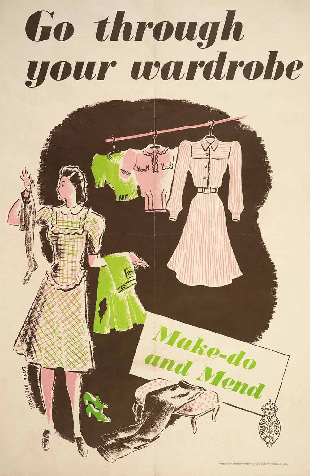 4. Fashion on the Ration, IWM London, 50% off with National Art Pass - Go Through Your Wardrobe Make-Do and Mend poster. © IWM