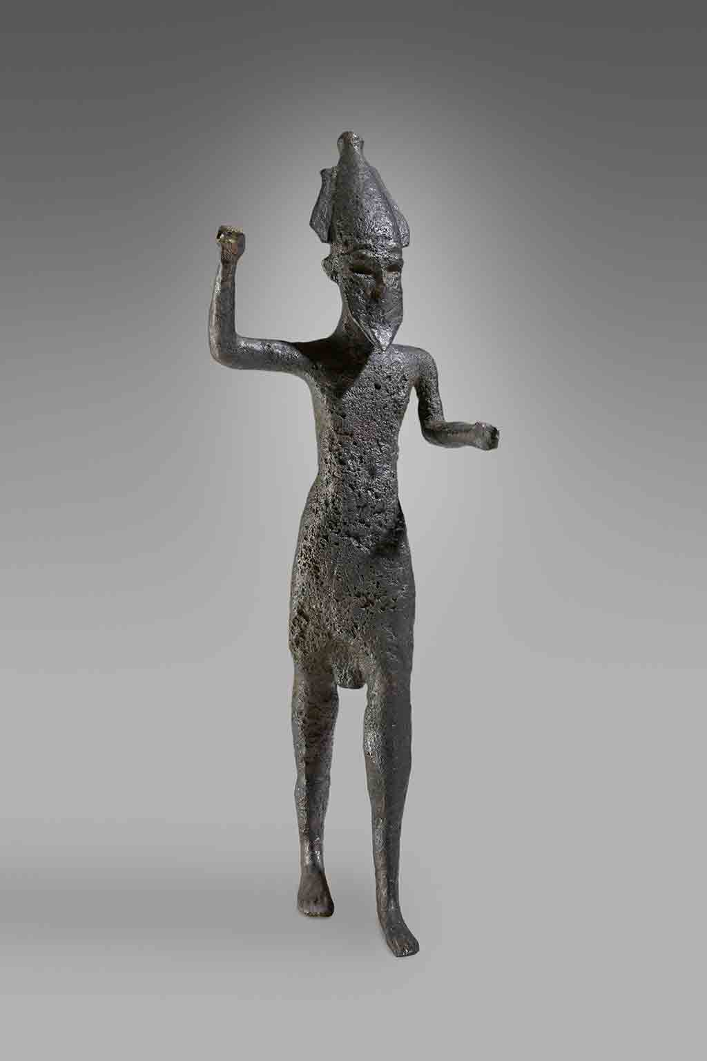 Statuette of Reshef, God of Thunder and War Phoenician, found off the coast of Sciacca, about 1000 BC