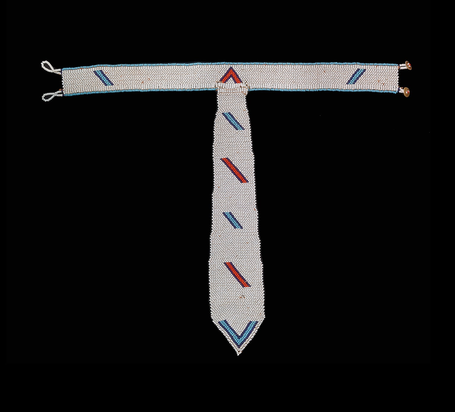 Tie, acquired in Idutywa, South Africa. Xhosa made, 1900-70