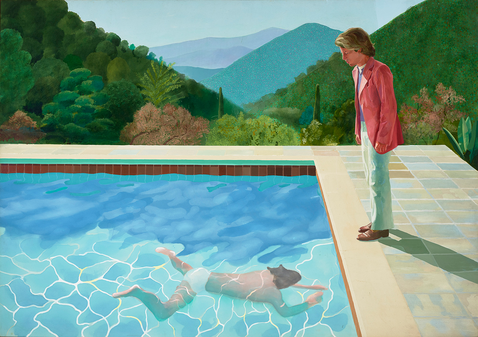 David Hockney, Portrait of an Artist (Pool with Two Figures), 1971
