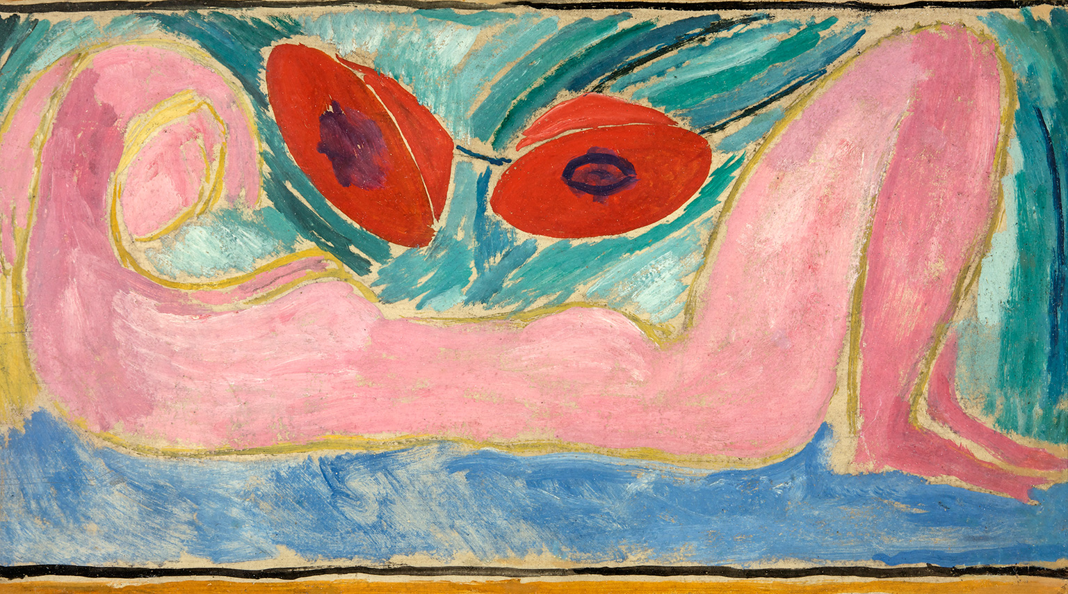 Vanessa Bell, Nude with Poppies, 1916