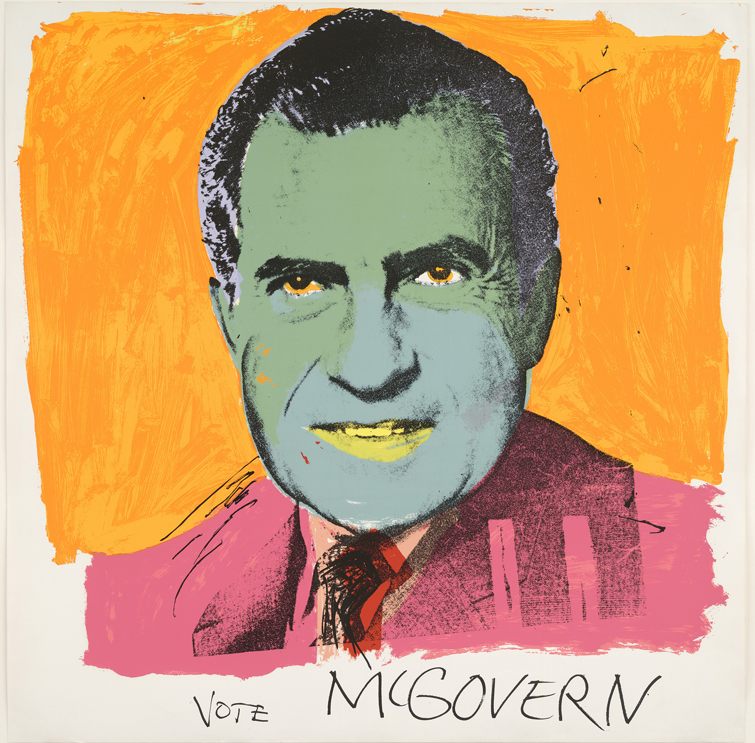 Andy Warhol, Vote McGovern, 1972 at British Museum's American Dream - © 2016 The Andy Warhol Foundation for the Visual Arts, Inc./Artists Rights Society (ARS), New York and DACS, London.