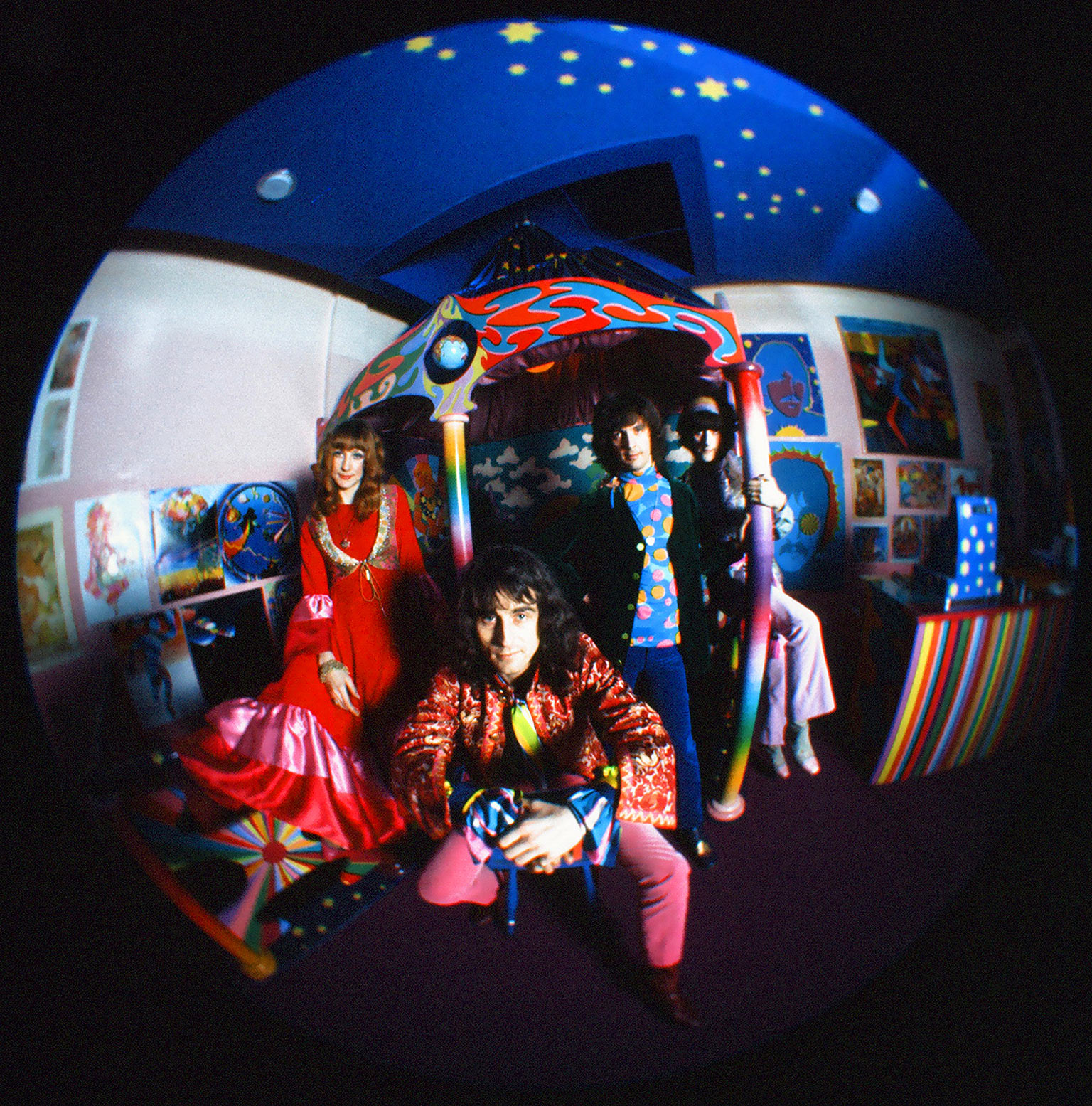 The Fool inside The Beatles' Apple Boutique for which they designed all the clothes and painted inside and the outside mural