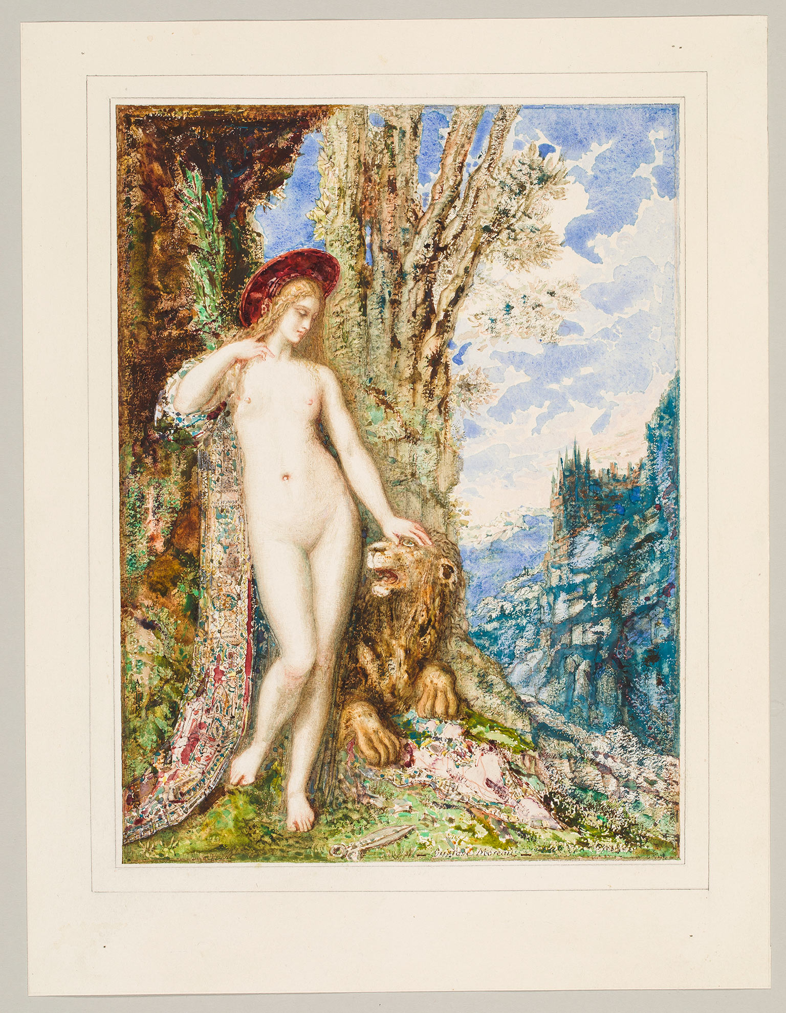 Gustave Moreau, The Lion in Love, 1879-85