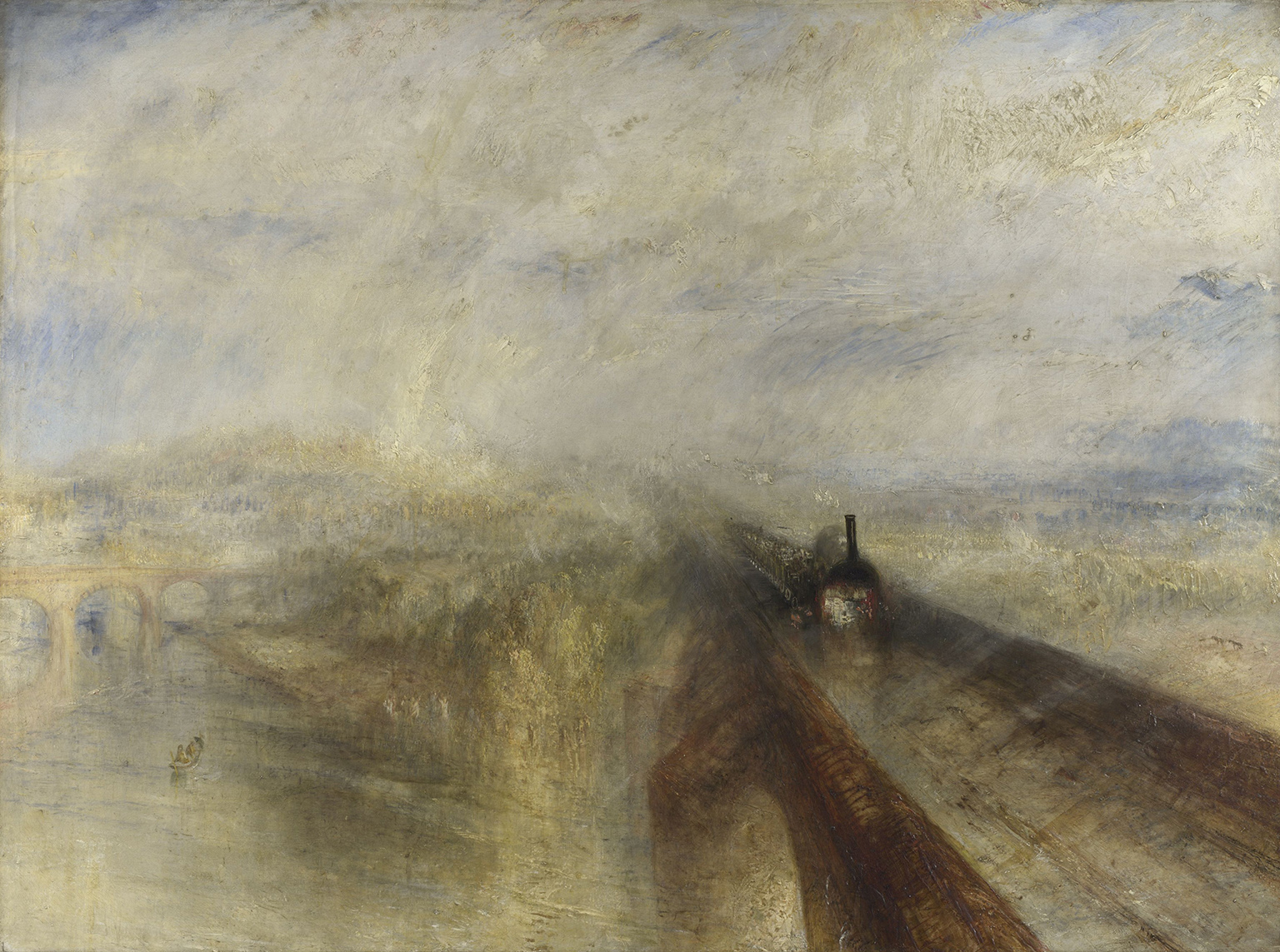 JMW Turner Rain, Steam and Speed - the Great Western Railway exhibited 1844 The National Gallery, London