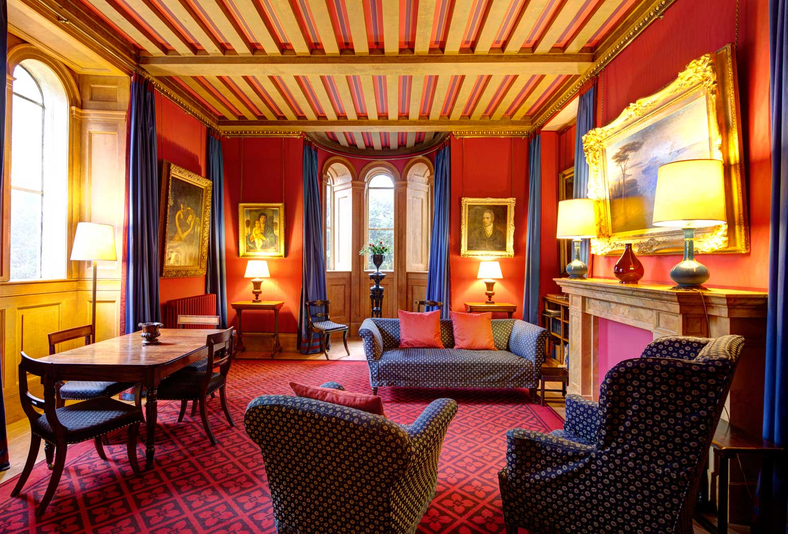 The living room at Beckford's Tower -