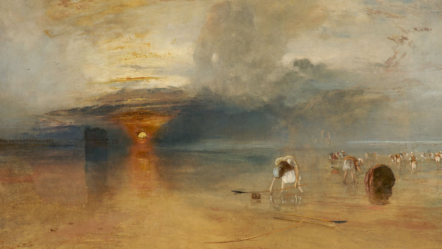 JMW Turner, Calais Sands at Low Water: Poissards Collecting Bait, 1830