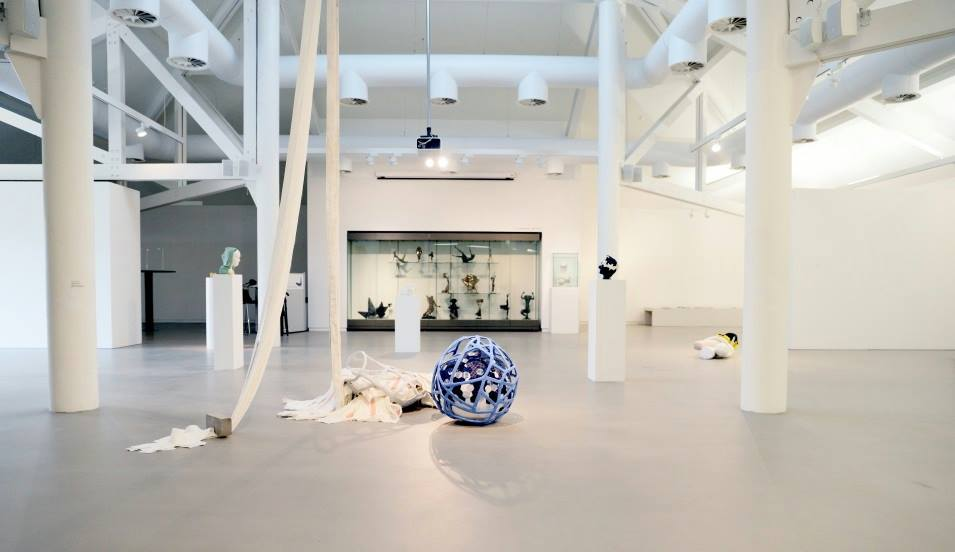 FE MCWilliam Gallery and Studio interior with work by Emma Donaldson