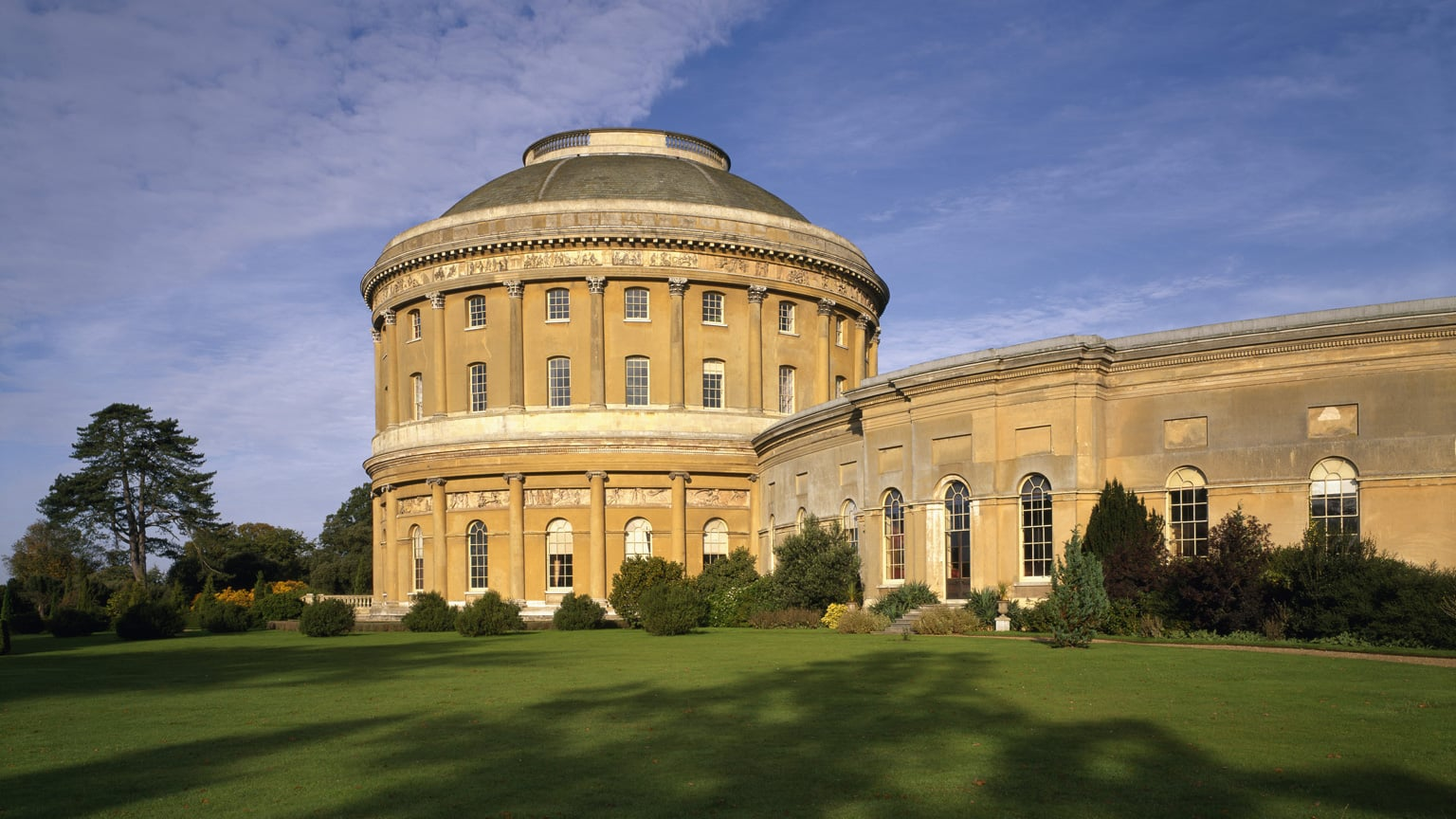 The central rotunda and curved corridor at Ickworth