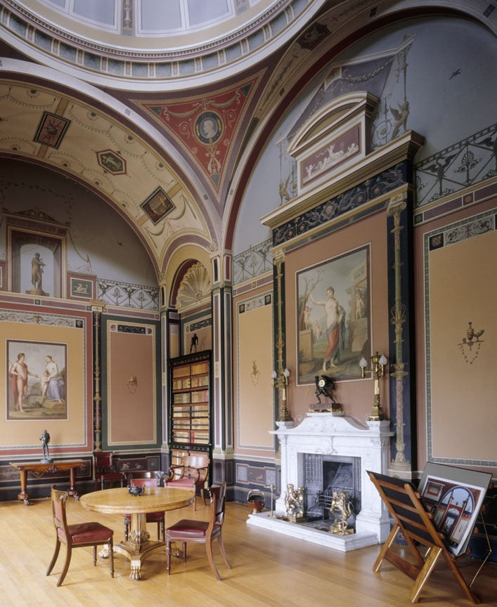 The Pompeian Room at Ickworth