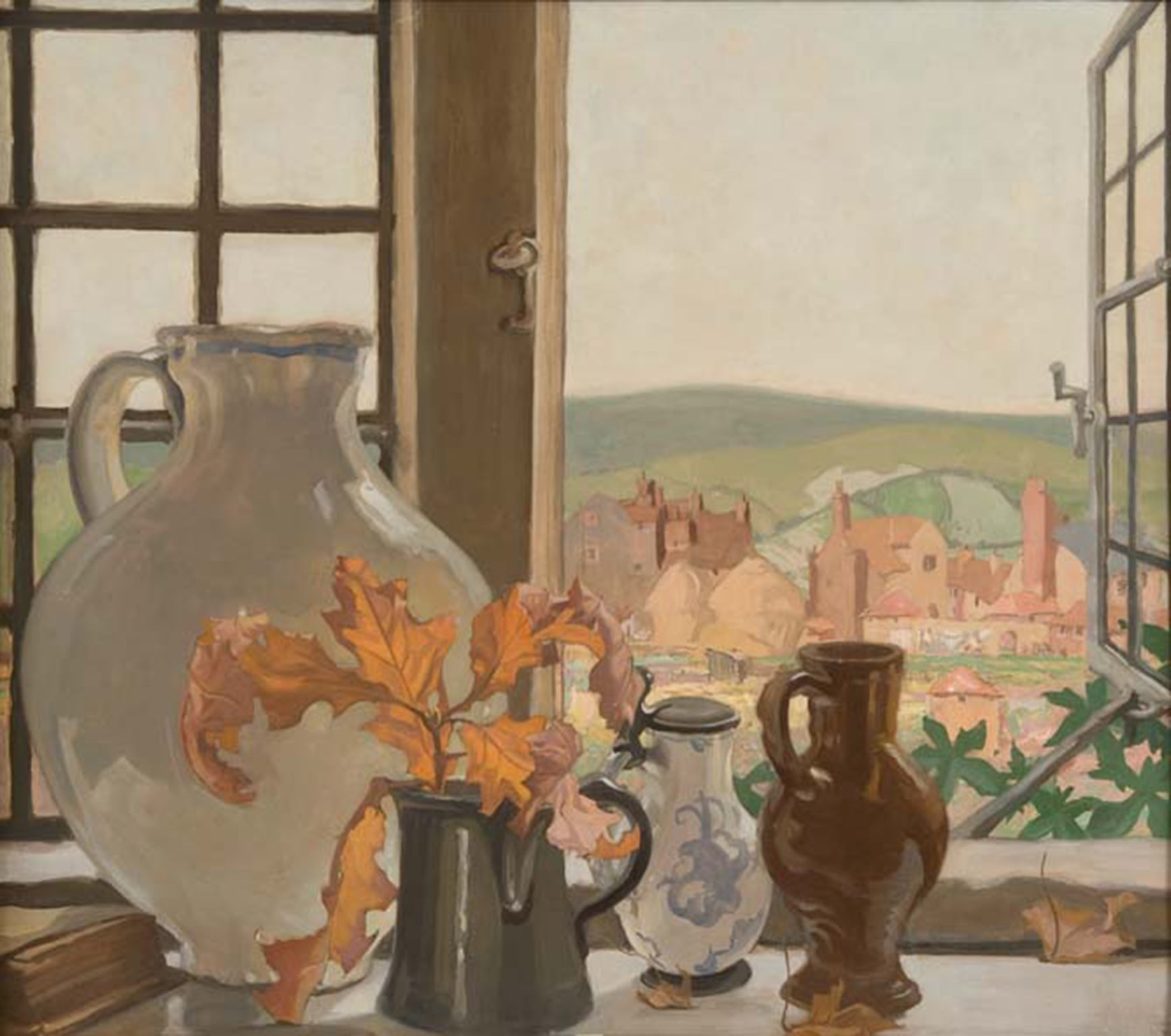The gallery's 'first treasure', Frank Brangwyn's From my Window at Ditchling, c. 1925 - © The Estate of Frank Brangwyn