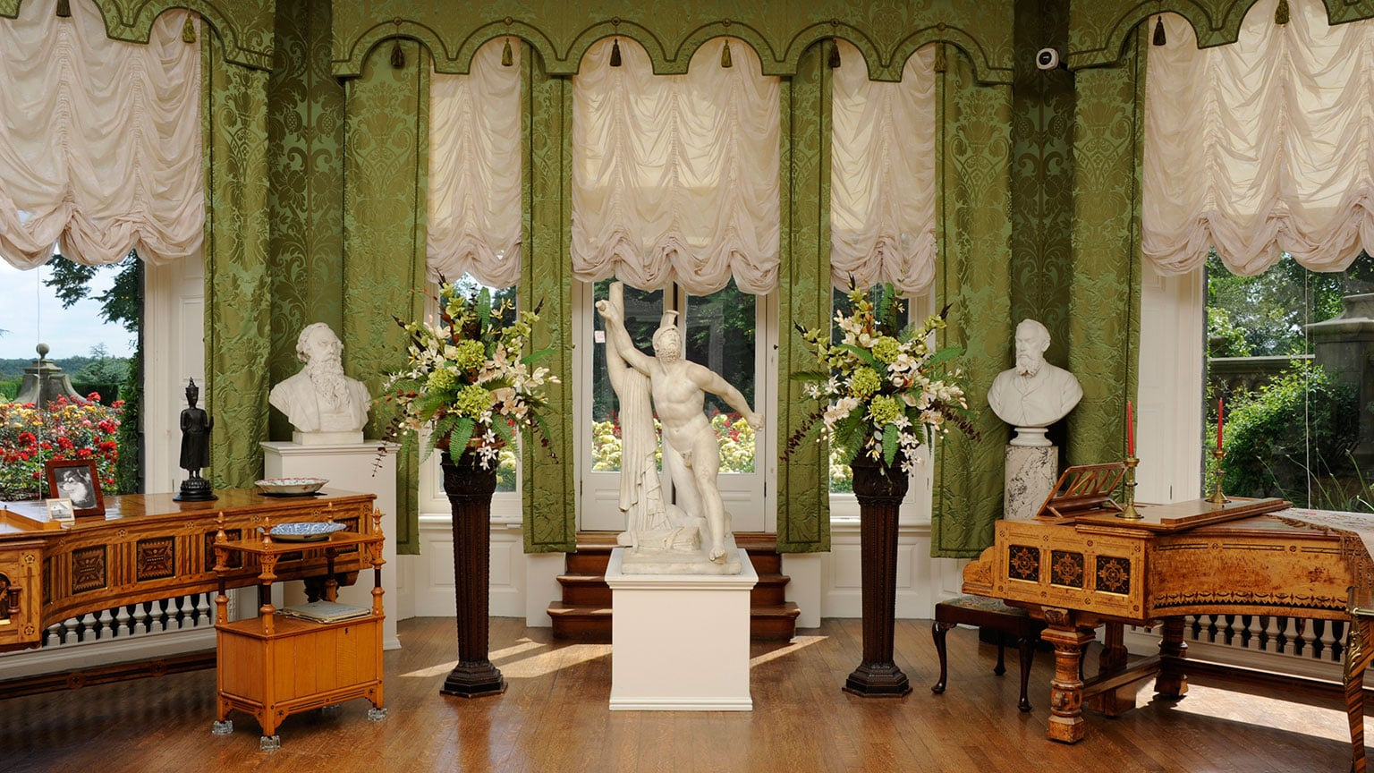 The restored drawing room