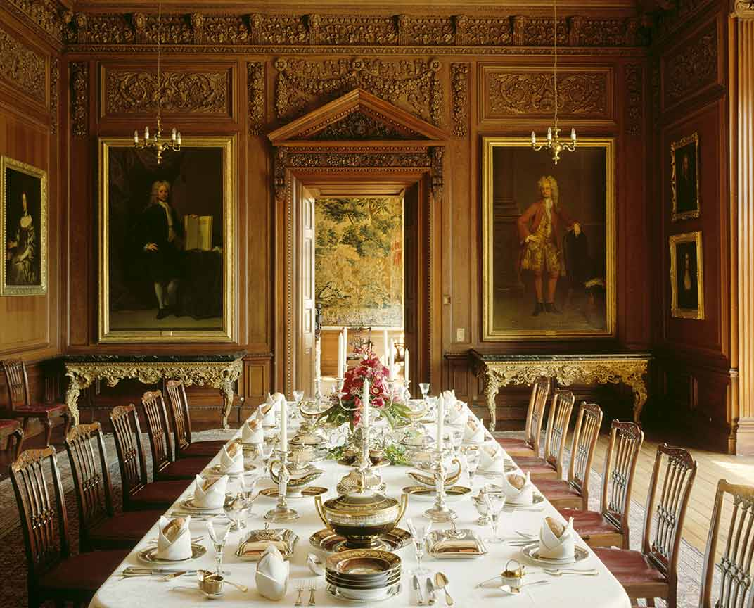 The dining room, reconstructed by Lewis Wyatt in the 19th century