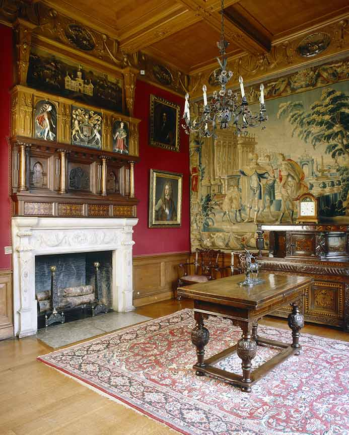 One of Lyme Park's majestically decorated saloons