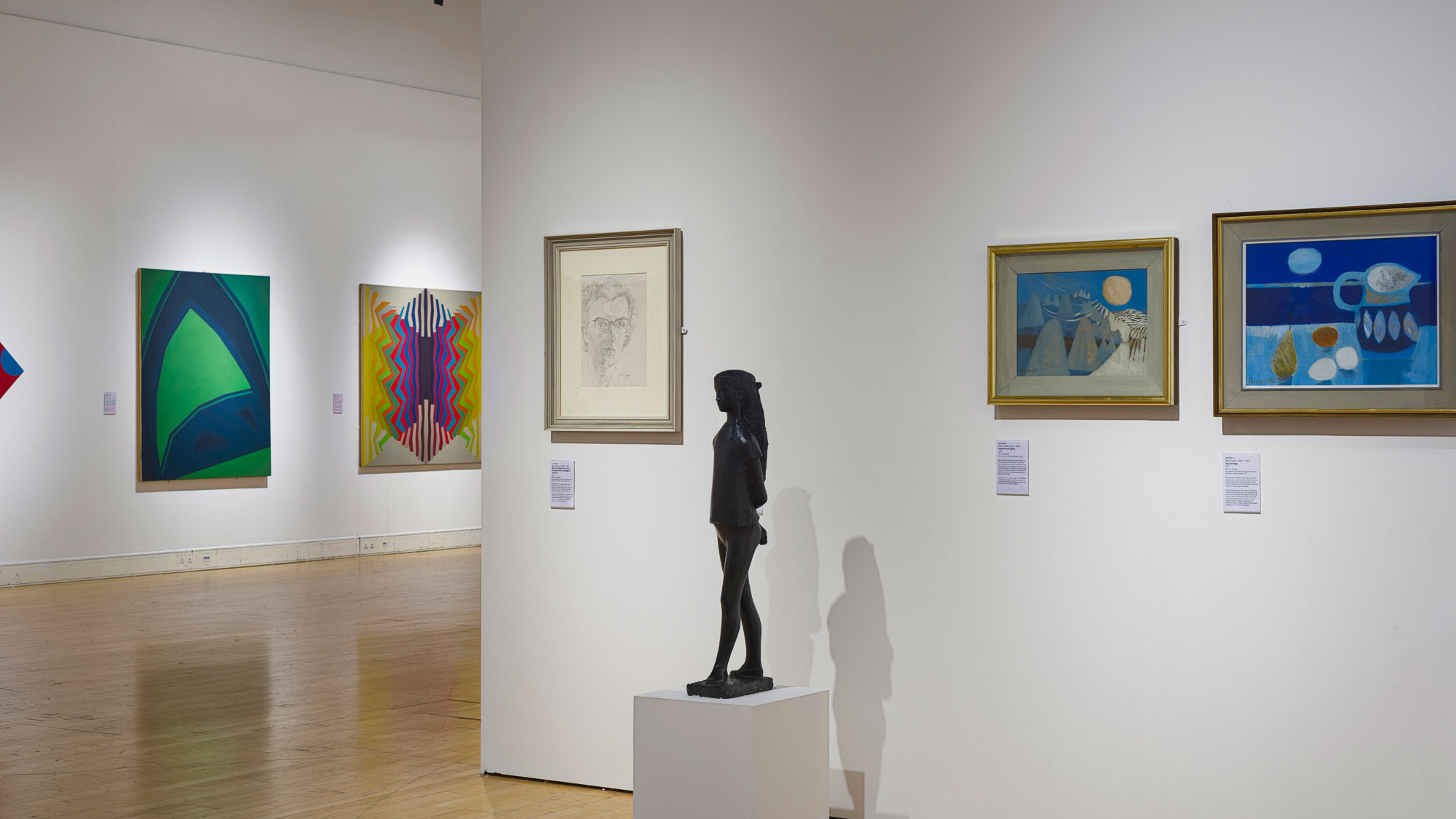 Installation view of the exhibition of the University Art Collection, summer 2015
