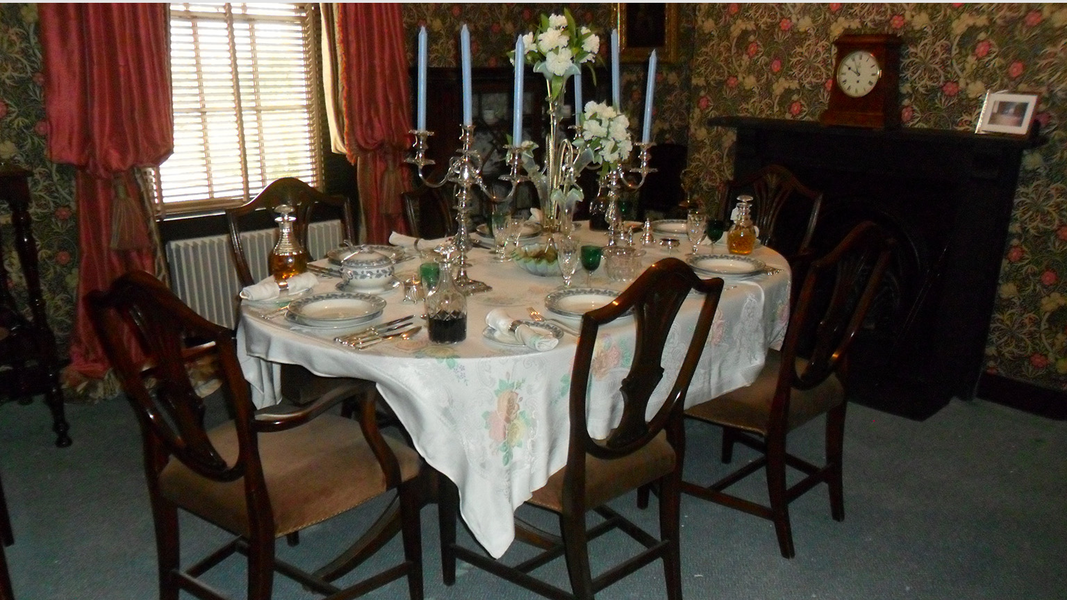 The dining room at Milford House