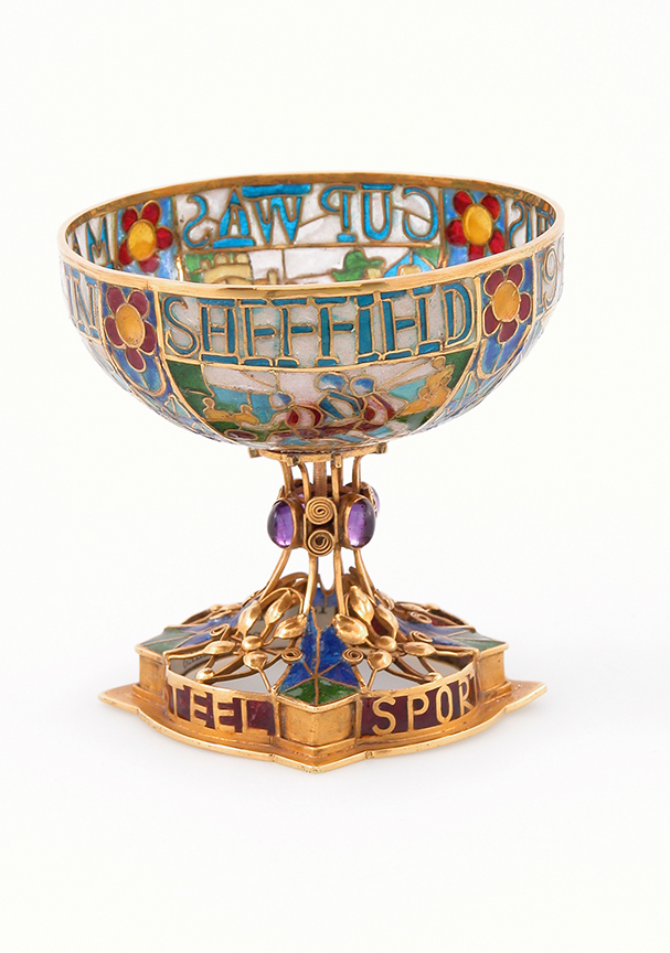 Helena M. Ibbotson, gold and enamel cup, 1929 from Sheffield's Metalwork Collection.