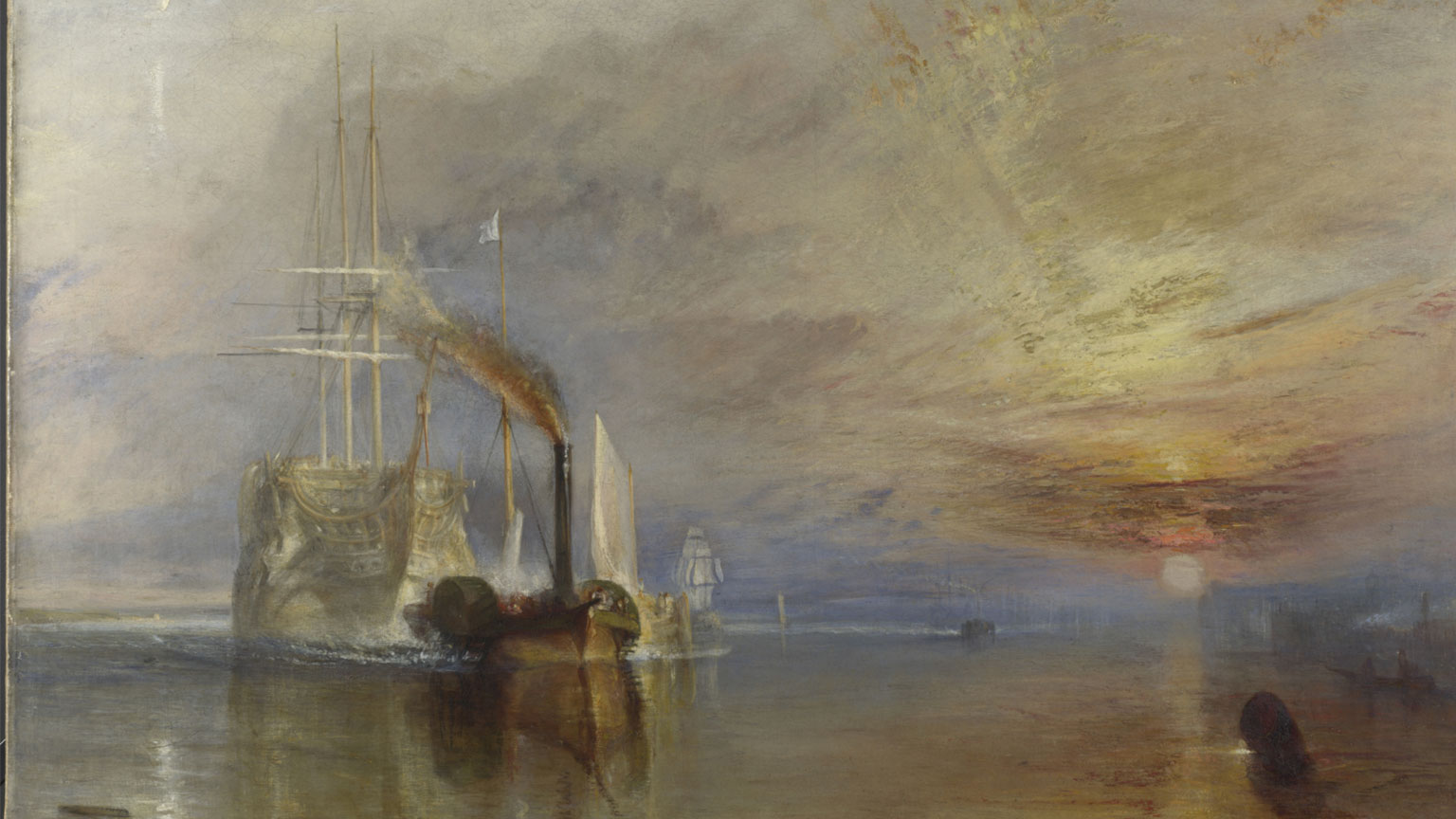 Joseph Mallord William Turner, The Fighting Temeraire tugged to her last berth to be broken up, 1839.