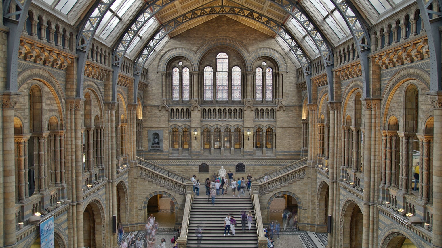 The Central Hall, with the Treasures gallery on the upper mezzanine