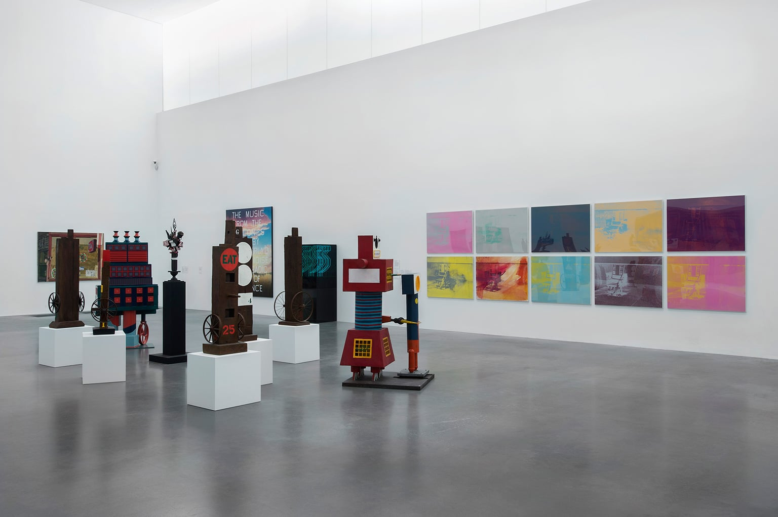 Installation view of Pop Myths