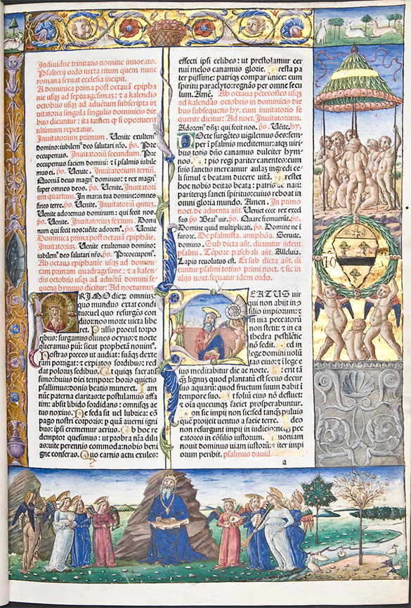From an illuminated incunable in the Hunterian Library (Sp Coll Hunterian Bf.1.18)