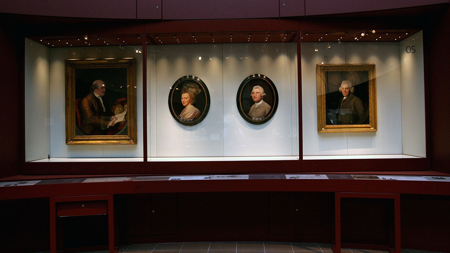 The Wedgwood Collection includes many works of fine art, such as portraits of the family