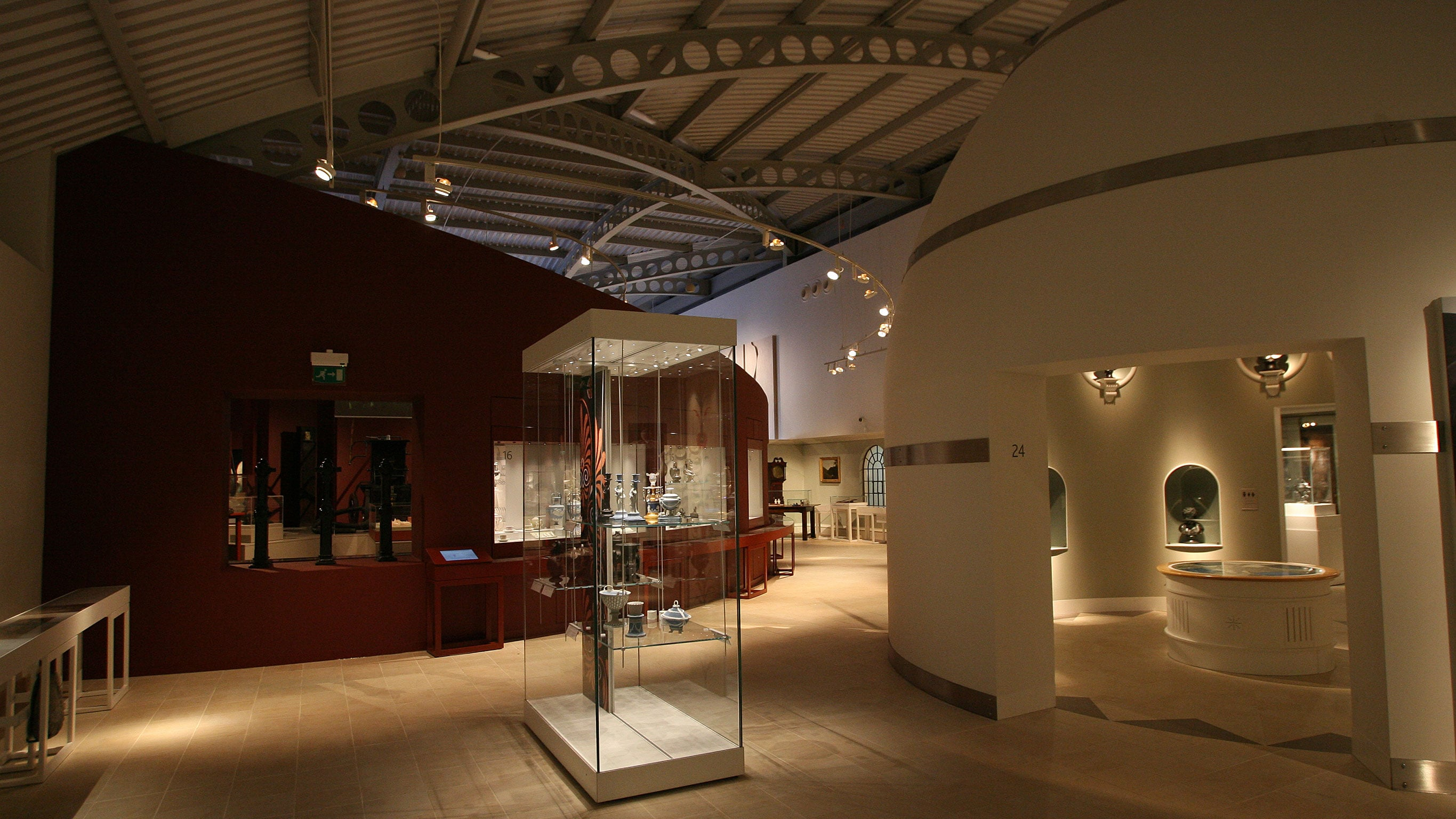 The museum provides a chronological history of the Wedgwood brand since its incarnation in 1759