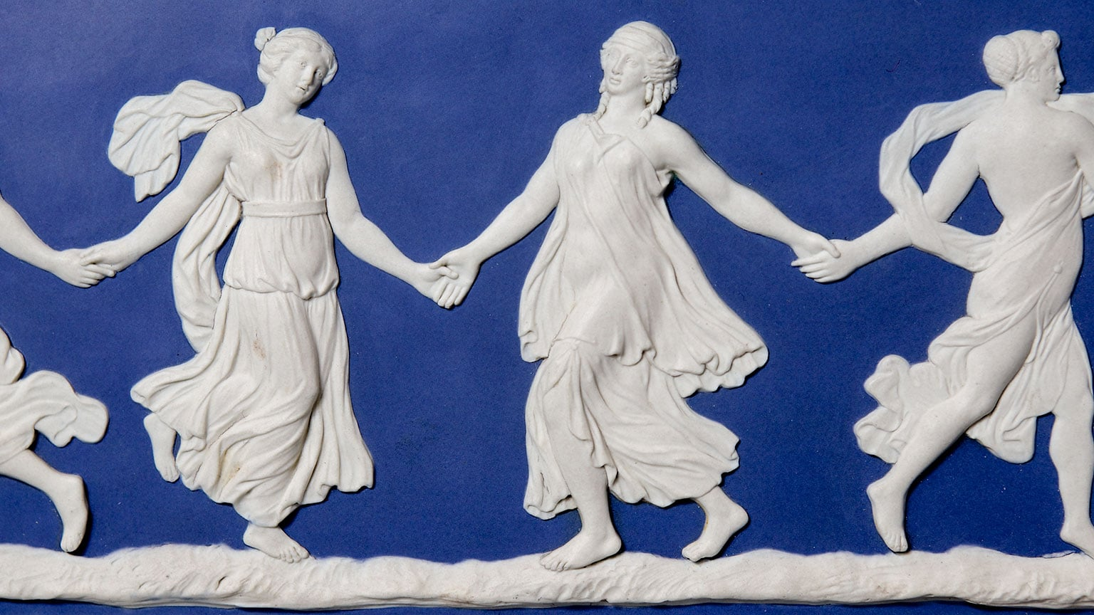 1. Wedgwood Museum, free with a National Art Pass - John Flaxman Jr, The Dancing Hours, c.1776-8. Photo: Phil Sayer