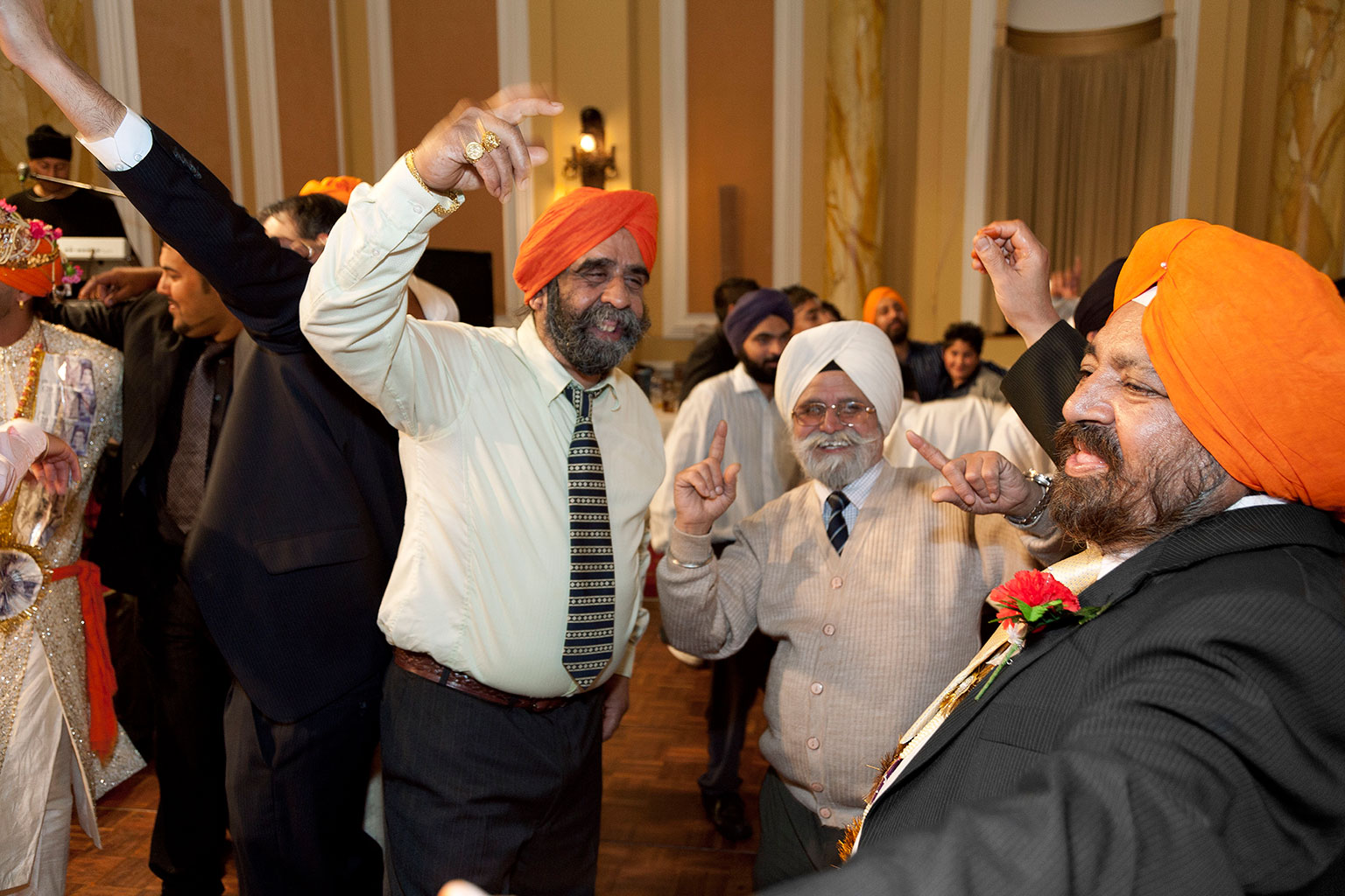 Sikh wedding at City Hall, Cardiff, Wales, 2008 - © Martin Parr / Magnum Photos / Rocket Gallery