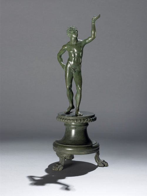 Statuette of a youth & Bronze club