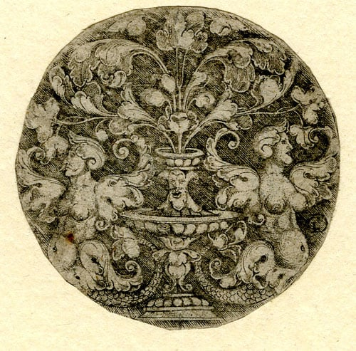 Engraving with Two Sphinxes