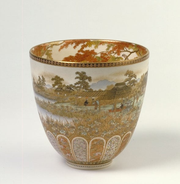 52 pieces of Japanese earthenware and porcelain
