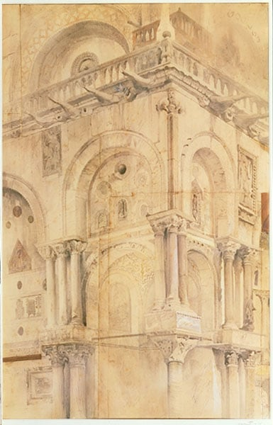 The North West Angle of the facade of St Mark's, Venice