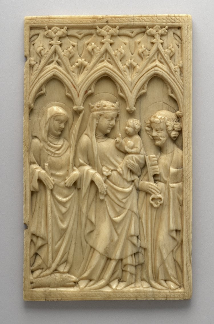 Carved ivory panel