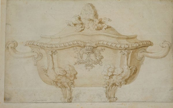 Design for a soup tureen