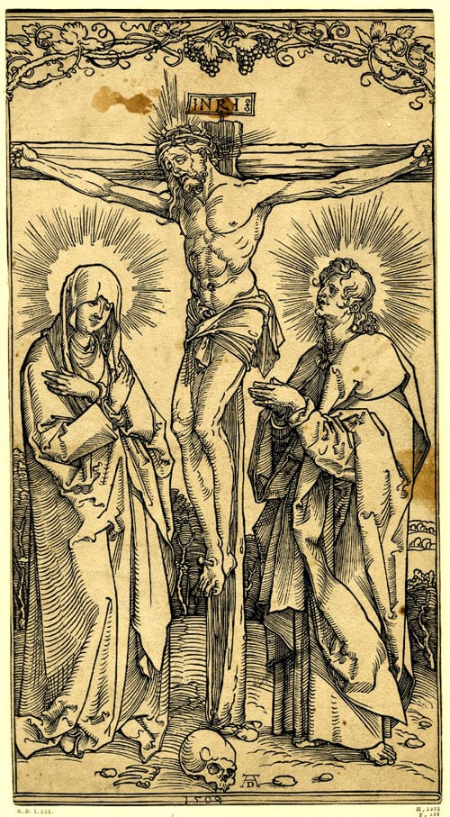 Christ on the Cross between the Virgin and St John
