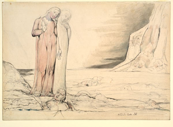 Illustration to the 'Divine Comedy' by Dante