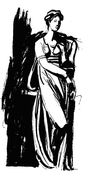 Study for a full-length portrait of a lady standing