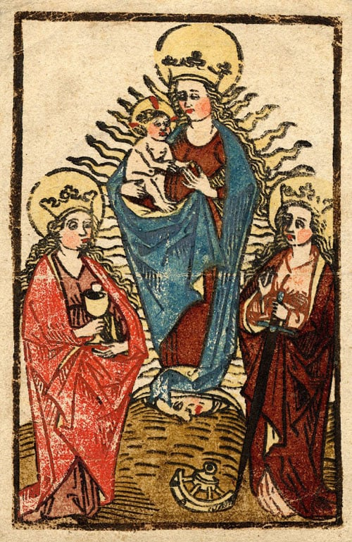 The Virgin as Queen of Heaven with Saints Barbara and Catherine of Alexandria