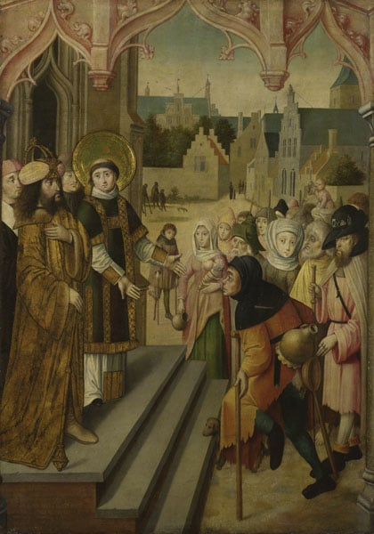 Saint Lawrence Showing the Prefect the Treasures of the Church