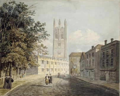 Magdalen College and High Street, Oxford