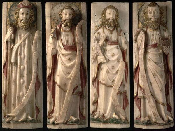 Collection of sculptures of the12 apostles