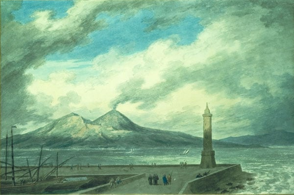 Vesuvius and Somma from the Naples Mole